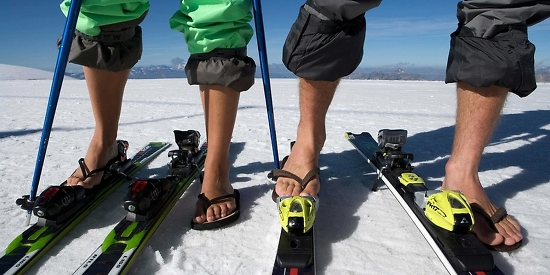 Summer skiing in Zermatt – flip-flops and skis