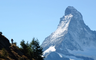 matterhorn guided biking in the swiss resort zermatt