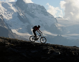 freeride biking in zermatt switzerland