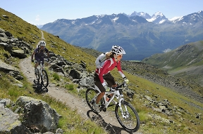 guided mountain bike tours with support