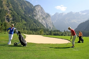 engelberg mountain golf course greens and bunkers