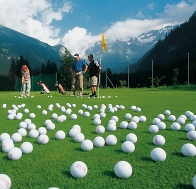 practice range in mountain golf course