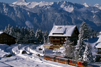 villars village mountain railway station